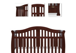 Espresso Addison 5 in 1 Convertible Crib Details