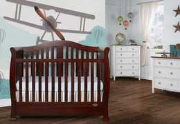 Espresso Addison 5 in 1 Convertible Crib Room Shot
