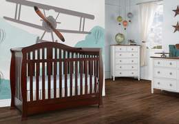 Espresso Addison 5 in 1 Convertible Crib Room Shot 1