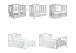 Grey Addison 5 in 1 Convertible Crib Collage
