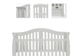 Grey Addison 5 in 1 Convertible Crib Details