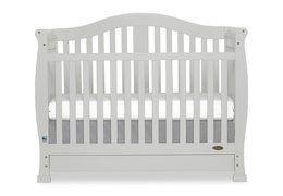 Grey Addison 5 in 1 Convertible Crib Silo Front
