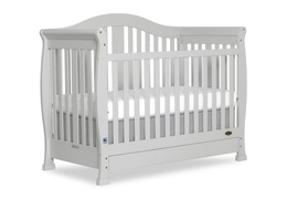 Grey Addison 5 in 1 Convertible Crib Silo Side