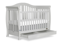 Grey Addison 5 in 1 Convertible Crib Silo Side1