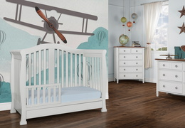 Grey Addison Toddler Bed Room Shot