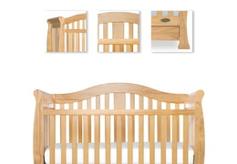 Natural Addison 5 in 1 Convertible Crib Details