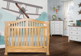 Natural Addison 5 in 1 Convertible Crib Room Shot