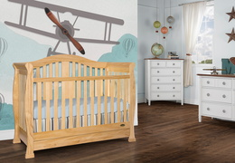 Natural Addison 5 in 1 Convertible Crib Room Shot 1