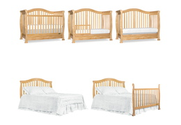 Natural Addison 5 in 1 Convertible Crib Collage
