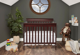 628-E Aden 4 in 1 Convertible Mini Crib Room Shot