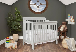 628-G Aden 4 in 1 Convertible Mini Crib Side Room Shot