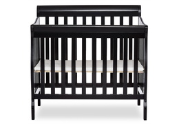 Black Aden 4 in 1 Convertible Mini Crib Silo front