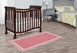 Espresso Violet/Piper 4 in 1 Convertible Mini Crib Room Shot
