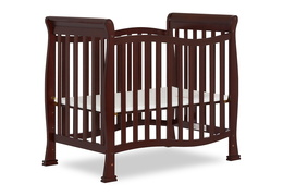 Espresso Violet/Piper 4 in 1 Convertible Mini Crib Side Silo