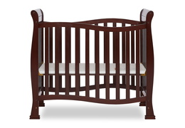 Espresso Violet/Piper 4 in 1 Convertible Mini Crib Front Silo 01