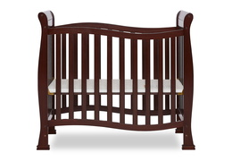 Espresso Violet/Piper 4 in 1 Convertible Mini Crib Front Silo 02