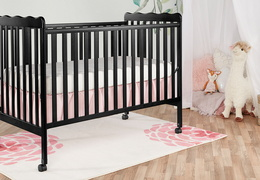 Black Classic 3 in 1 Convertible Crib Room Shot