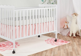 White Classic 3 in 1 Convertible Crib Room Shot