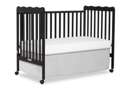 Black Classic 3 in 1 Convertible Crib Day Bed Silo
