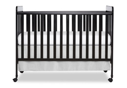 Black Classic 3 in 1 Convertible Crib Front Silo