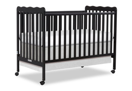 Black Classic 3 in 1 Convertible Crib Side Silo