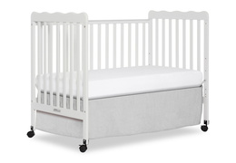 White Classic 3 in 1 Convertible Crib Day Bed Silo