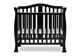 Black Addison 4 in 1 Convertible Crib  Silo Front
