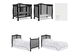 Black Addison 4 in 1 Convertible Crib Collage