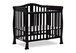 Black Addison 4 in 1 Convertible Crib Silo Side
