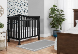 Black Addison 4 in 1 Convertible Mini Crib Room Shot