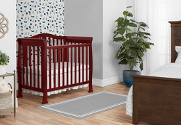Cherry Addison 4 in 1 Convertible Crib Room Shot