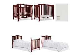 633-C Addison 4 in 1 Convertible Mini Crib Collage