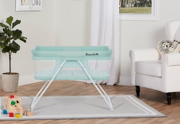4479-GREEN Meghan Portable Bassinet Room Shot