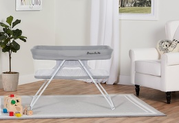 4479-GREY Meghan Portable Bassinet Room Shot