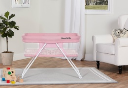 4479-PINK Meghan Portable Bassinet Room Shot