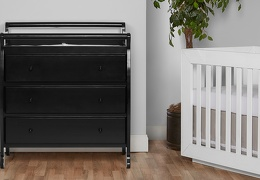 Liberty 3 Drawer Changing Table Room Shot - Black