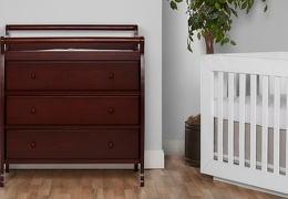 Liberty 3 Drawer Changing Table Room Shot - Espresso
