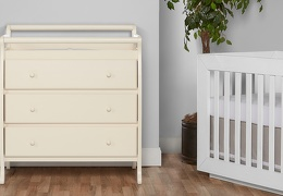 Liberty 3 Drawer Changing Table Room Shot - French White