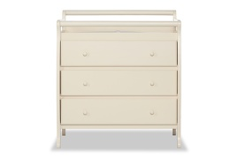 Liberty 3 Drawer Changing Table Silo Front - French White
