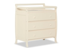Liberty 3 Drawer Changing Table Silo Side - French White