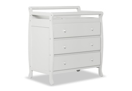 Liberty 3 Drawer Changing Table Silo Side - Mystic Grey