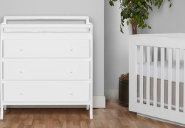 Liberty 3 Drawer Changing Table Room Shot - White