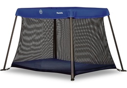 Blue Travel Light Play Yard Side