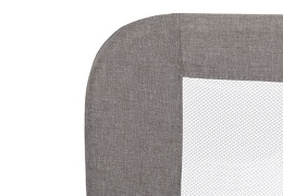 419-GRY 3D Linen Fabric and Mesh Security Bed Rail Silo 04