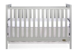 Cool Grey - Springfield 3 in 1 Convertible Crib Front Silo