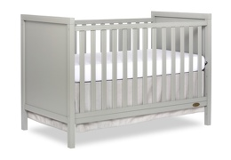 Cool Grey - Springfield 3 in 1 Convertible Crib Side Silo