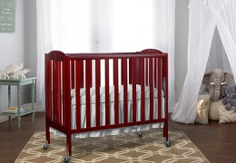 Cherry 3 in 1 Folding Portable Crib RmScene