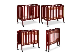 Cherry 3 in 1 Folding Portable Crib Collage
