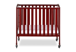 Cherry 3 in 1 Folding Portable Crib 01 Silo