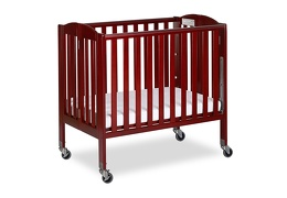 Cherry 3 in 1 Folding Portable Crib 04 Silo